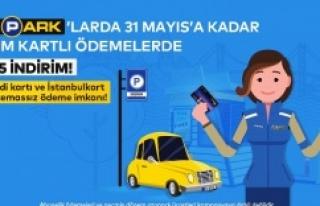 İSPARK'TAN KART İLE ÖDEMEDE YÜZDE 5 İNDİRİM