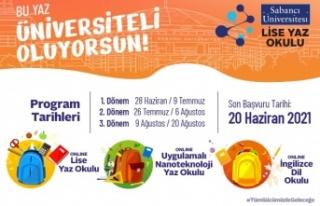 Sabancı Üniversitesi Lise Yaz Okullarıkayıtları...