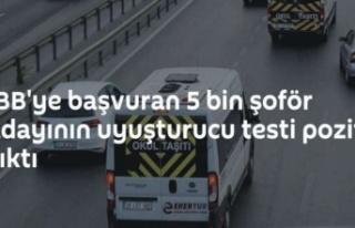 İBB'ye başvuran 5 bin şoför adayının uyuşturucu...
