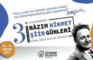 ULUSLARARASI NÂZIM HİKMET ŞİİR GÜNLERİ ATAŞEHİR'DE...