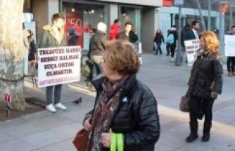 Saadet Partisin'den Kadına Taciz ve Tecavüze dur eylemi