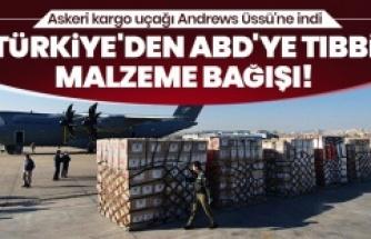 Türkiye'den ABD'ye tıbbi malzeme bağışı