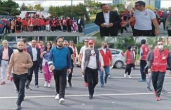 Ataşehir'de farkındalık yürüyüşü düzenlendi