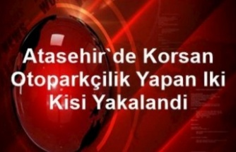 Ataşehir'de korsan otoparkçılık yapan iki kişi yakalandı