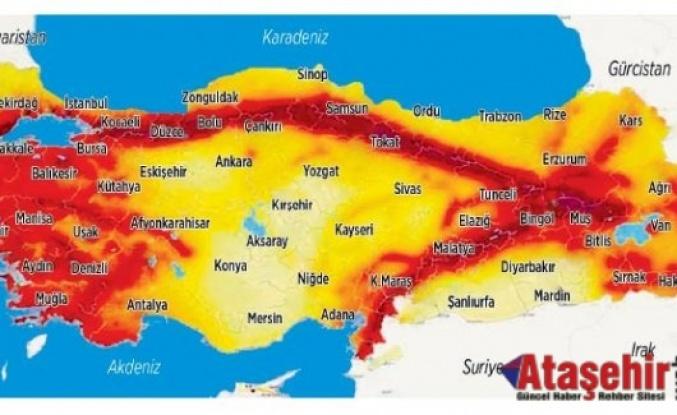 İstanbul'un Deprem risk haritası yayınlandı